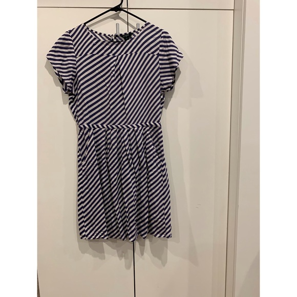 J. Crew Dresses & Skirts - J Crew Striped Midi Blue and White Dress